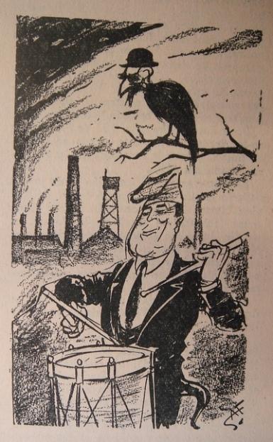 Caricatura de Josep Pla, El Español, 1943