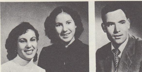 Los hijos de Valentín y Juana. De izda. a dcha., en 1951 Caty (13 años), Rosario (17), Manuel (22)